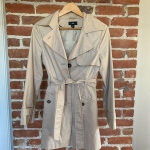 H&M trench coat dress pleated back S khaki